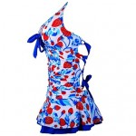 Woman Strawberry Halter Padded Swimwear Australia Swimdress Tankini Top With Attached Bottom