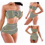 Color Striped Waist Sexy Swimsuit Australia With A Chest Pad And Steel Ring 2 Color To Choose