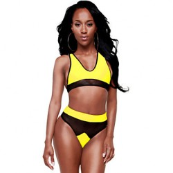 Women's Mesh Racer Back High-waisted Bikini