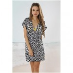 Women's Cover-Ups , Animal Acrylic/Spandex Black