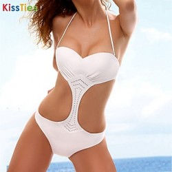 KissTies®Women Sexy Hollow Push Up Straped One Pieces