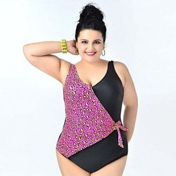 2019 Newest Lady Sexy One Piece Swimsuit Big Women Plus Size Swimwear Australia Leopard Triangle Swimwears Beach Bathing Suit