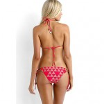 Women's Rosy Nude Diamond Slide Triangle Bikini