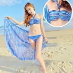 Women's Bathing Suit With Mantle Three Piece Suit Swimwear