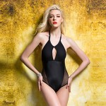 Women's Black Transparent Knitting Bikini Australia Swimwear