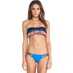 Women Fashion Sexy Multicolor Tassels Push Up Bandeau Bikinis Australia Set