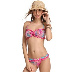 Women Fashion Sexy Multi Print Lace Beachwear Bikini Australia Set Swimwear Australia Swimsuit Australia Biquini Bathing Suit