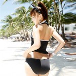 Women Halter Multi Pieces , Solid Ruffle Others Polyester Spandex