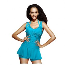 Women Halter Push Up Padding One Piece Tankini Swimsuit Australia Skirt