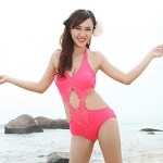 Summer New Fashion Lady Retro Sexy Cut Out Backless One Piece Swimsuit