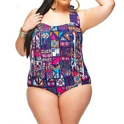 Women Fashion Multicolor Check Sexy High Waist Bikinis Australia Plus Size