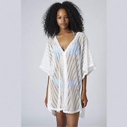 Women Sexy Hollow Lace Beachwear Cover-up