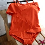 Summer New Lady Sexy Bra Solid One Piece Swimsuit Australia Bathing Suit