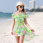 Women's Printed Pattern With The Outer Shirt Steel Prop Bikini Australia Three Sets Of Swimsuit