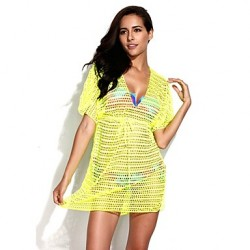 Women's Cover-Ups , Solid Others Yellow