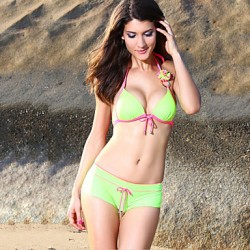 Women's Triangle Self-tie Padded Bikini Australia Set