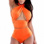 Women Straped Bikinis Australia , High Rise Solid Wireless Polyester White Pink Blue Green Orange Red Black