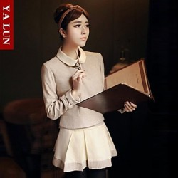 Yalun®Temperament Doll Collar Coat And Leisure Two Piece Dress