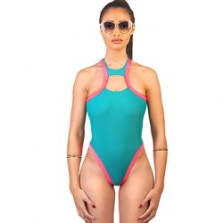 Women's Halter Swimming Accessories , Solid Wireless/Padded Bras Polyester Blue