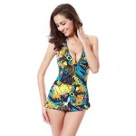Free Shipping Hot Wholesale Vintage Allover Print 2015 Womens Swimwear Australia Tankinis M.L.XL