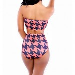 Women Bandeau Bikinis Australia , High Rise Geometric Wireless Padless Bra Others Multi Color