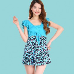 Women's Halter One-pieces , Animal Polyester Pink/Blue/Black