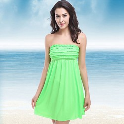 Women Cotton Blends Padless Bra Halter Cover-Ups