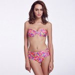 The Fille Women Wireless Twistable Front Padded Bras Retro Floral Bandeau Bikini Australia Tops