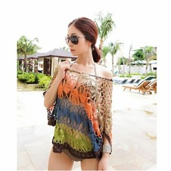 Women's Stylish Sexy Colourful Hollow-out Kintwear Beach Coat