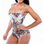 Women Halter One Pieces , Floral Wireless Mesh Ice Silk Multi Color