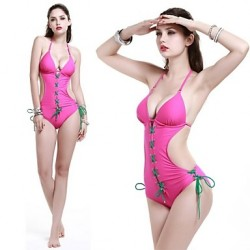 Women's Fashion Sexy New Design One Piece  Swimwear Australia A Varieat Of Color To Decorate The Rope