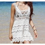 Women Fashion Sexy White Hollow Crochet Swimwear Australia Swimsuit Australia Beachdress Bikini Australia Cover Up