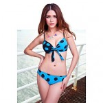 Women's Straped Multi-pieces , Dot Push-up/Strapped/Padded Bras/Underwire Bra Nylon/Spandex Blue/Red/Black