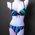 Women's New Design Foshion Swirl Flow Bra Plus Two Piece Bikini Australia Swimsuit