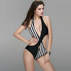women's fashion new design sexy one piece triangle bikini swimsuit