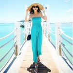 Women's Fashion Sexy Solid Bohemia Swimwear Australia Swimsuit Australia Bikini Australia Beach Cover Up Holiday Long Dress