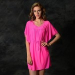 Women's Cover-Ups , Solid Nylon/Polyester White/Pink/Blue/Black