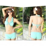 Women's Bikini Australia Three Piece Set Size Chest Gather Steel Supporting Swimming Suit