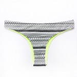 The Fille Women Reversible Low Rise Ceramic Printed & Fluorescent Green Brazil Bikini Australia Panties