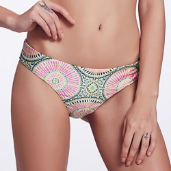 The Fille Women's Reversible/Low rise/Paisley Printed& Fluorescent Purple Brazil Bikini Australia Panties
