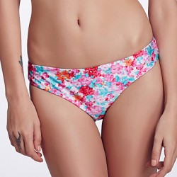 The Fille Women's Reversible/Low rise/Watercolor Printed& Fluorescent Purple Brazil Bikini Australia Panties