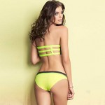 Women's Summer Yellow Tan Bustier Bikini Australia Swimsuit