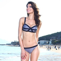 Women's Sexy Stripes Accent 2pcs Bikini Australia Swimwear