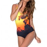 Women's Sexy Evening Twilight Floral Wireless/Padless Bra Floral Halter One-pieces (Polyester)