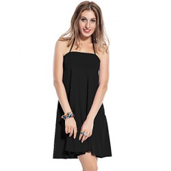 New 2019 Fashion Sleeveless Plus Size Dress High Quality Strapless Dress Summer Hot Sale Fit and Flare Cute Beach Dress
