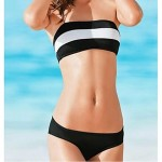 Anny Women's Wireless Color Block Bandeau Bikinis Australia (Polyester)