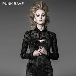 PUNK RAVE Y-512 Women's Vintage/Sexy Inelastic Long Sleeve Short Shirt (Cotton)