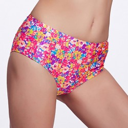 The Fille Women's Retro Folded /Mid Rise/Retro Floral Bikini Australia Panties
