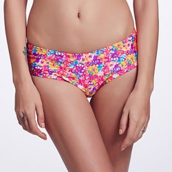 The Fille Women Cute Fluorescent Green Bowknot Mid Waist Retro Floral Bikini Australia Panties