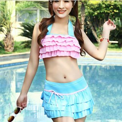 Women's Sexy Colorful Patchwork Gather Swimwear(More Colors)